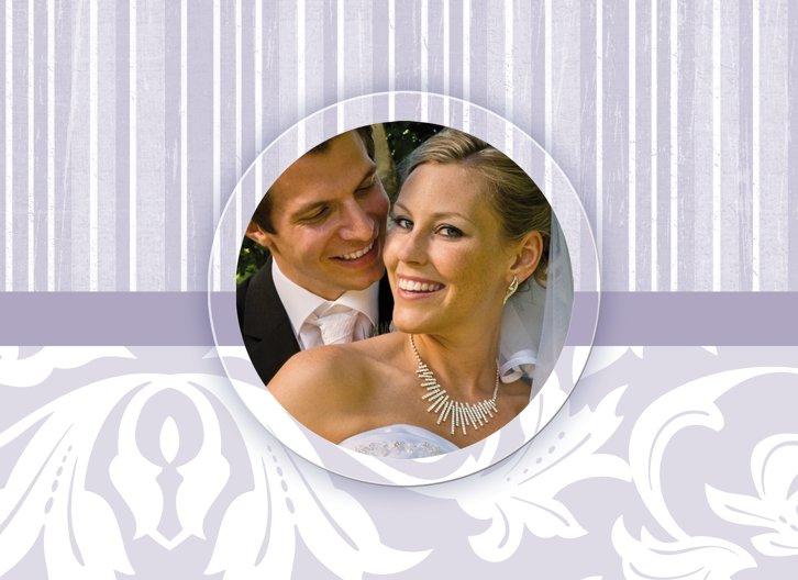 Ansicht 4 - Hochzeit Dankeskarte Streifenzauber