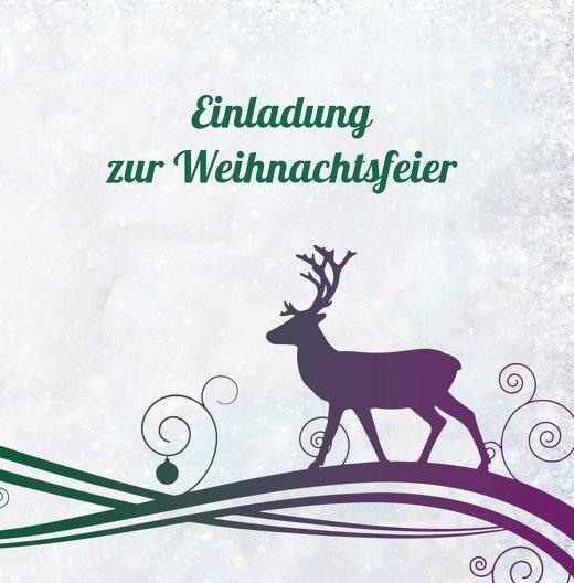 Ansicht 3 - Einladungskarte Bunter Wintertraum