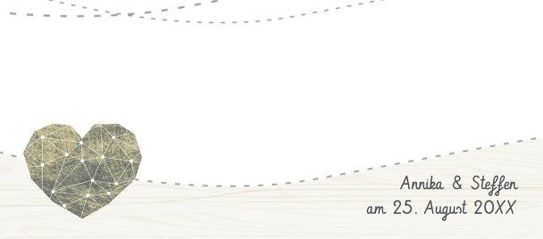 Ansicht 3 - Hochzeit Tischkarte Sternenbild