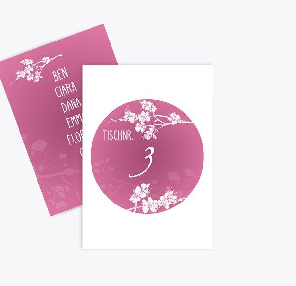 Tischnummer Cherry Blossom
