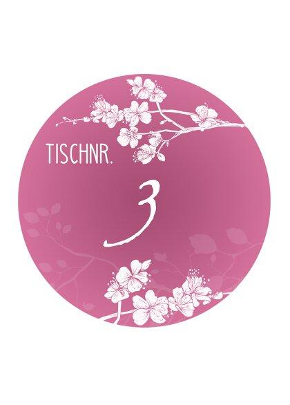 Ansicht 2 - Tischnummer Cherry Blossom