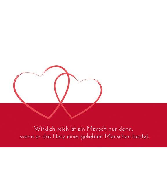 Ansicht 4 - Hochzeit Einladungskarte Herzensband