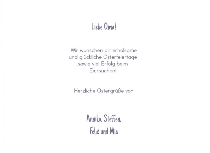 Ansicht 5 - Osterkarte Ostergruß