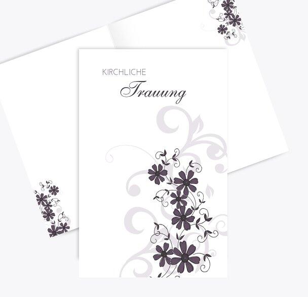 Hochzeit Kirchenheft Umschlag Ranke