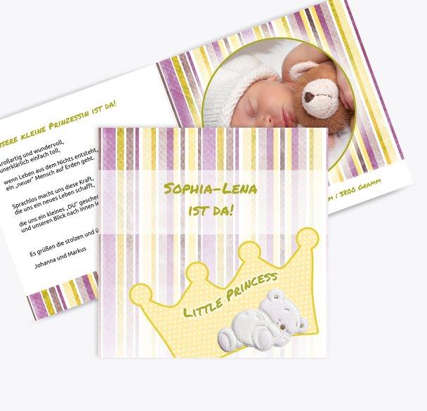 Babykarte Krone
