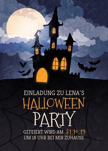 Ansicht 2 - Halloweenkarte Gruselschloss