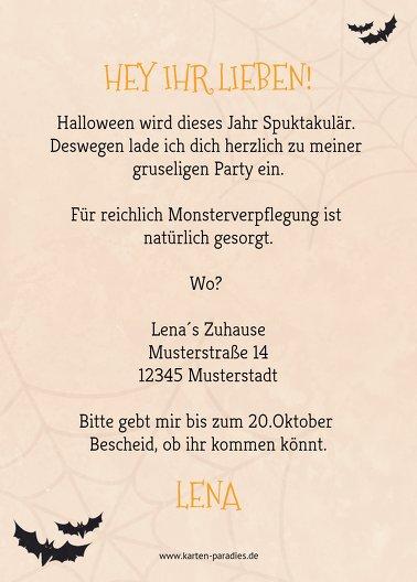 Ansicht 3 - Halloweenkarte Gruselschloss