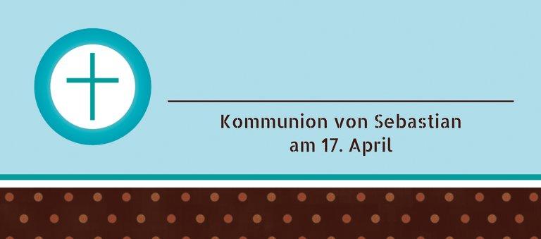 Ansicht 3 - Kommunion Tischkarte Kreuzhostie