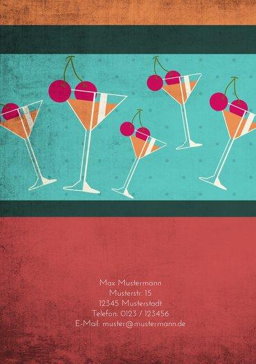 Ansicht 2 - Geburtstagseinladung Cocktailparty 40
