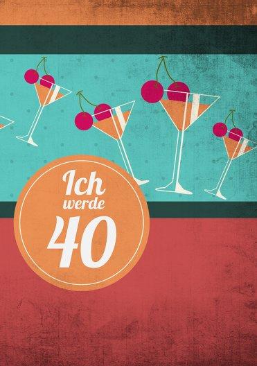 Ansicht 3 - Geburtstagseinladung Cocktailparty 40
