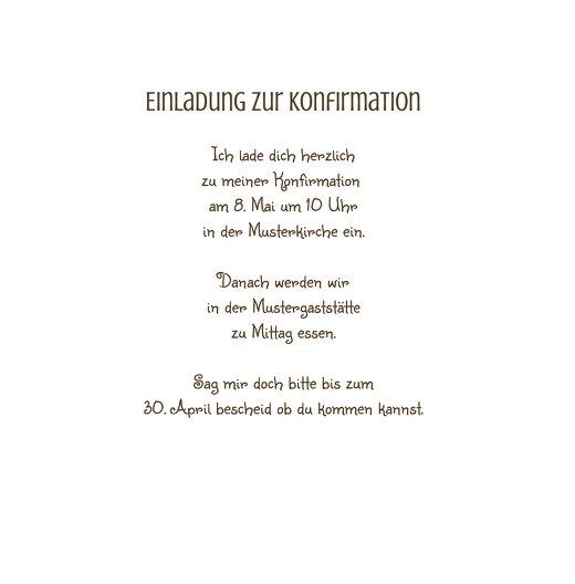 Ansicht 5 - Konfirmation Einladungskarte Spruchkreis