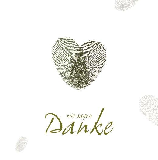 Ansicht 3 - Hochzeit Dankeskarte fingerprint
