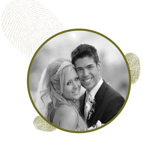Ansicht 4 - Hochzeit Dankeskarte fingerprint
