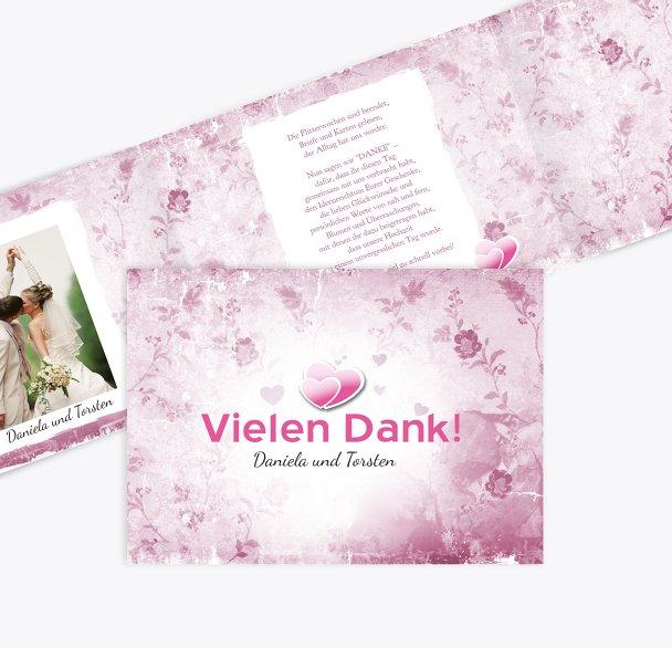 Hochzeit Danke Din romantische Liebe