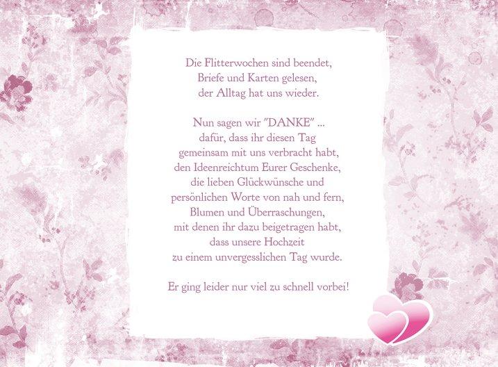 Ansicht 6 - Hochzeit Danke Din romantische Liebe