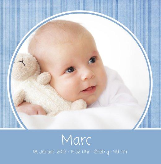 Ansicht 3 - Baby Dankeskarte Streifentapete