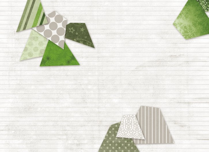 Ansicht 4 - Grußkarte Schnipselbäume