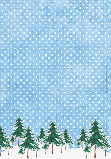 Ansicht 2 - Menükarte Schneewald
