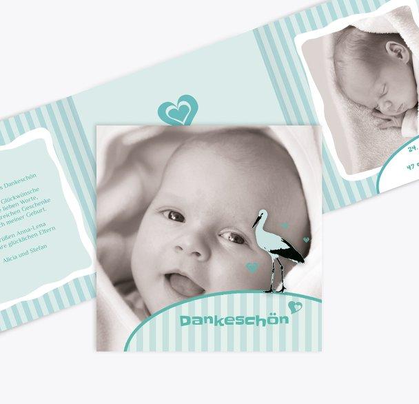 Baby Dankeskarte Harmonie