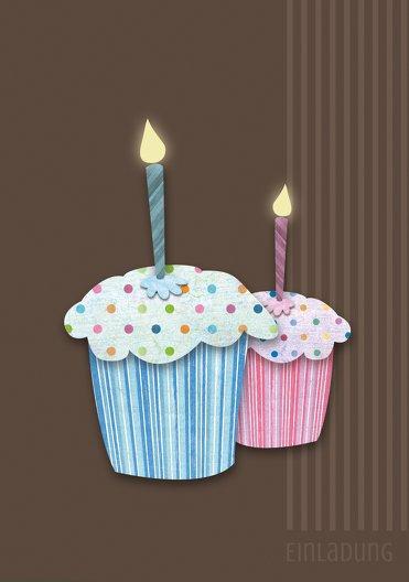 Ansicht 3 - Geburtstagseinladung Muffintime Foto