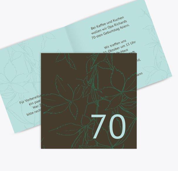 Einladung Herbst 70