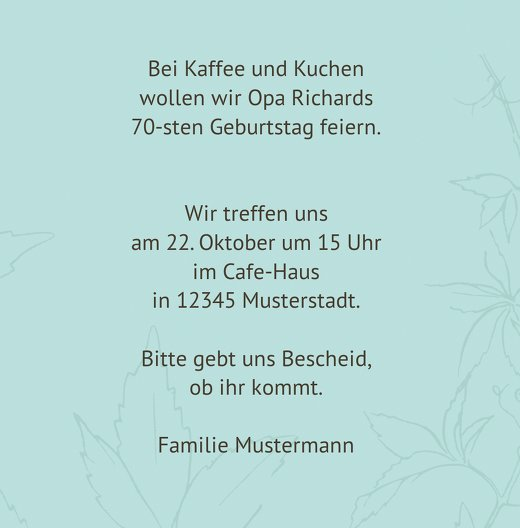 Ansicht 5 - Einladung Herbst 70