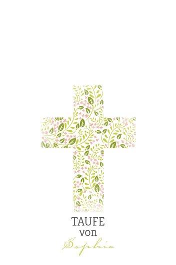 Ansicht 2 - Fingerabdruck Leinwand Kreuz