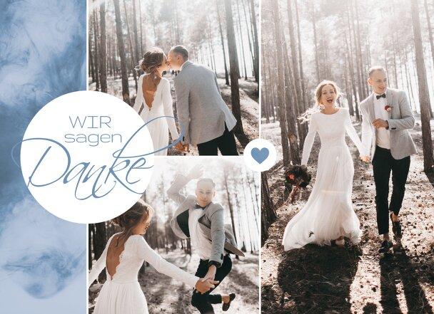 Ansicht 3 - Hochzeit Dankeskarte Sanft
