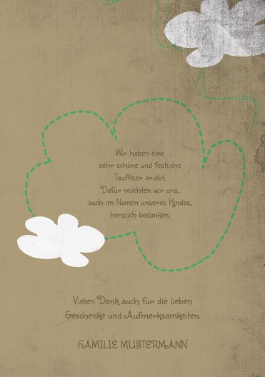 Ansicht 5 - Tauf Dankeskarte Engelchen
