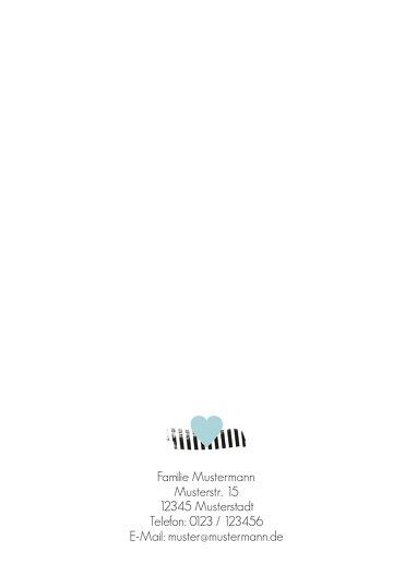 Ansicht 2 - Baby Dankeskarte Häuschen