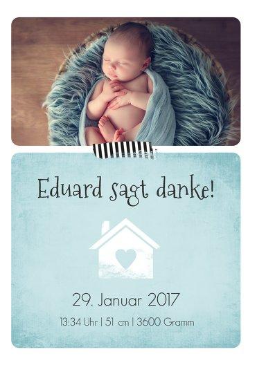 Ansicht 3 - Baby Dankeskarte Häuschen