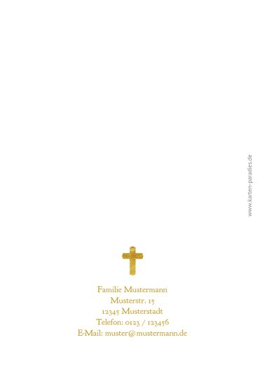 Ansicht 2 - Taufe Dankeskarte Goldrausch
