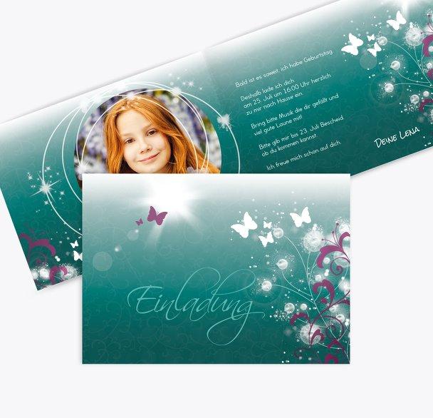 Einladungskarte zum Geburtstag Foto beautiful