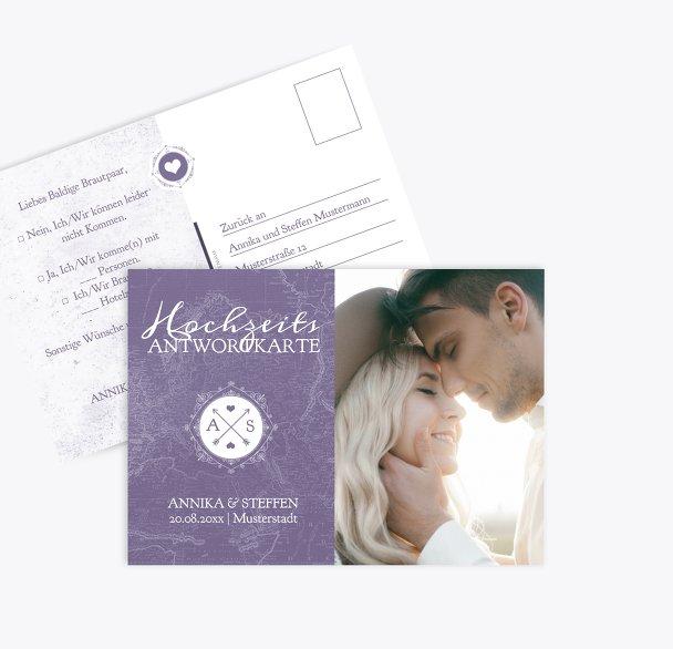 Antwortkarte Hochzeitspass