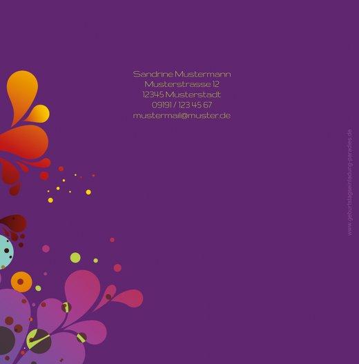 Ansicht 2 - Karte zum Geburtstag Farbenspiel