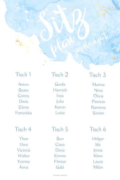 Ansicht 2 - Sitzplan Wolke Sieben