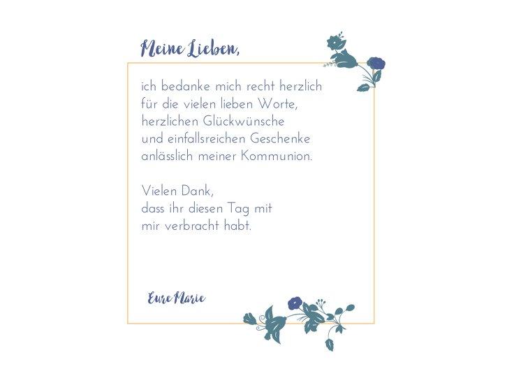 Ansicht 5 - Kommunion Dankeskarte Blumenkranz