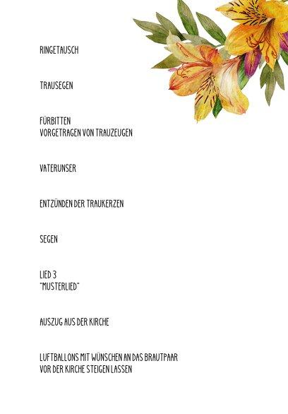 Ansicht 5 - Hochzeit Kirchenheft Umschlag Blumendeko