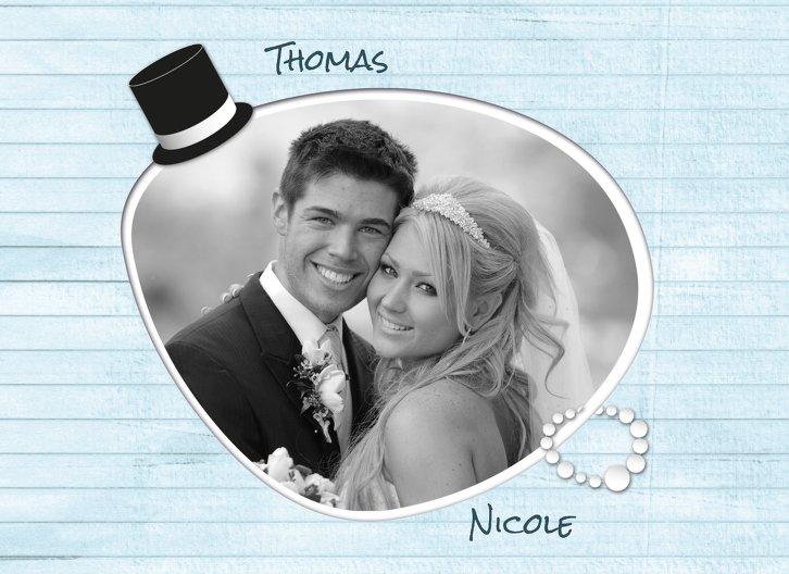 Ansicht 4 - Hochzeit Dankeskarte Kette Zylinder