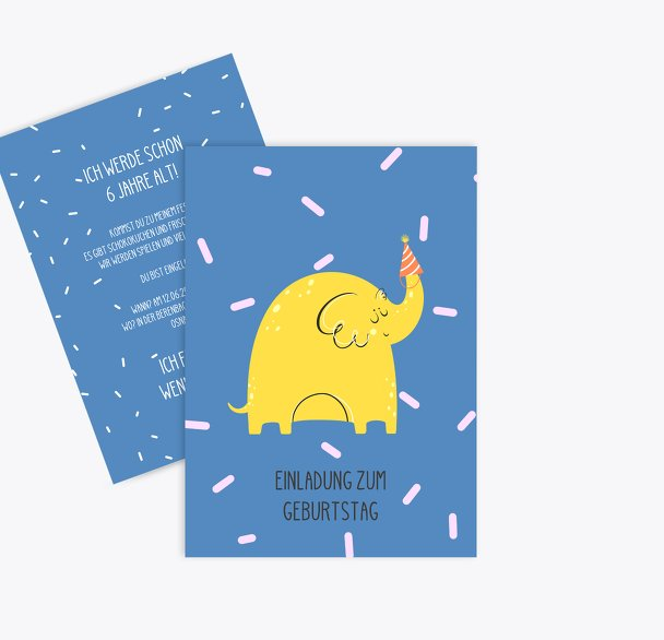 Einladung Kindergeburtstag Elefantastisch
