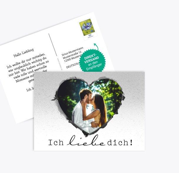 Fotospruchkarte Liebe