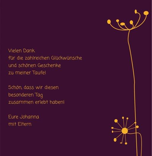 Ansicht 6 - Dankeskarte abstrakte Blumen