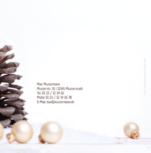 Ansicht 2 - Foto Einladung Weihnachtsengel