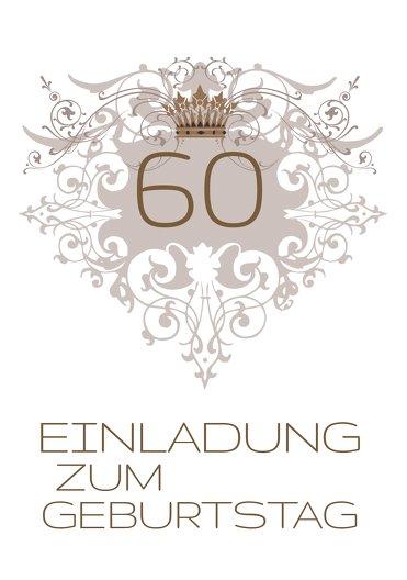 Ansicht 3 - Einladungskarte Krone 60 Foto