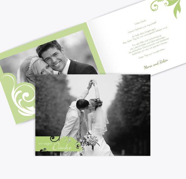Hochzeit Dankeskarte squiggle square