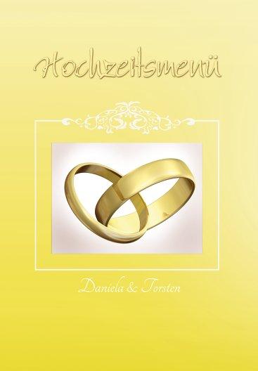 Ansicht 3 - Hochzeit Menükarte Din Ringetausch