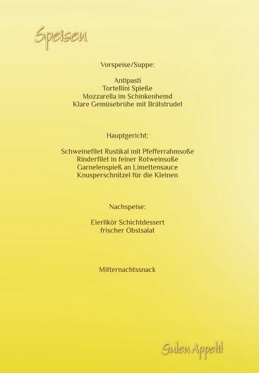 Ansicht 5 - Hochzeit Menükarte Din Ringetausch