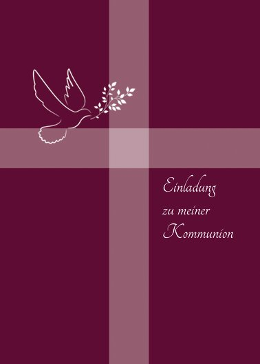 Ansicht 2 - Kommunionskarte Glaubensbote