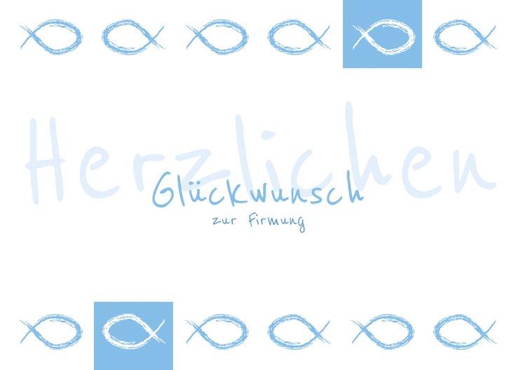 Ansicht 2 - Glückwunschkarte Firmung Fische