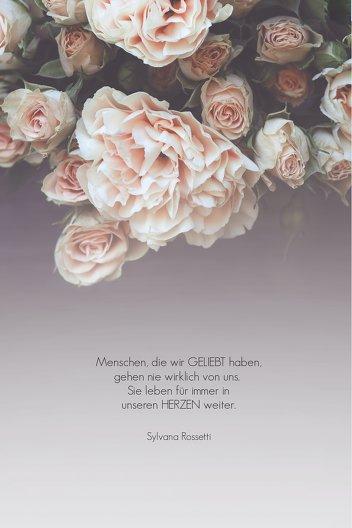 Ansicht 4 - Trauerkarte Trauer Rosen